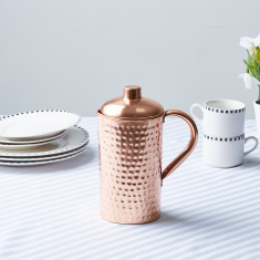 Copper Jug with Hammered Finish