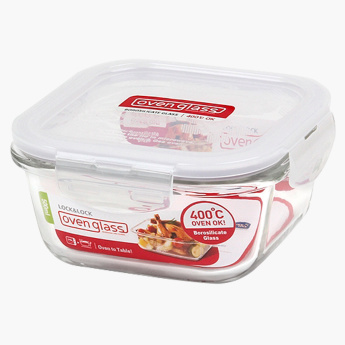 Lock & Lock Boroseal Heat Resistant Square Glass Container - 500 ml