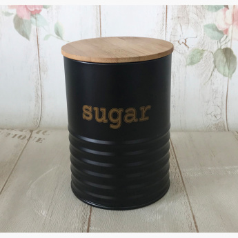 Cuisine Art Round Sugar Canister with Bamboo Lid