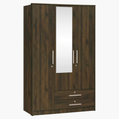 Dazzle 3-Doors and 2-Drawers Wardrobe with Mirror and Locks