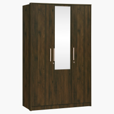 Dazzle 3-Door Wardrobe with Mirror and Locks