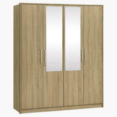 Dazzle 4-Door Wardrobe with 2-Mirrors and Locks