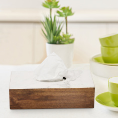 Indie Vibe Wooden Tissue Box