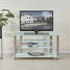 Memphis Rectangular Glass TV Unit
