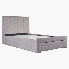 Fiona Twin Bed with 1-Drawer - 120x200 cms
