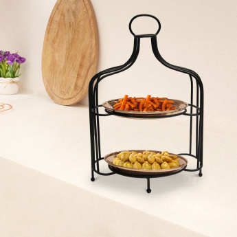 Indie Vibe 2-Tier Snack Server