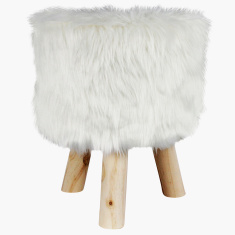 Adler Faux Fur Stool
