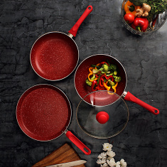 Wonderchef Royal Velvet 4-Piece Pan Set