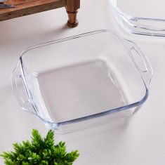 Shop Marinex Square Glass Baking Dish With Handle 4 2 L Online Home Boxbahrain