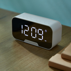 HBSO Bluetooth Speaker with LED Clock
