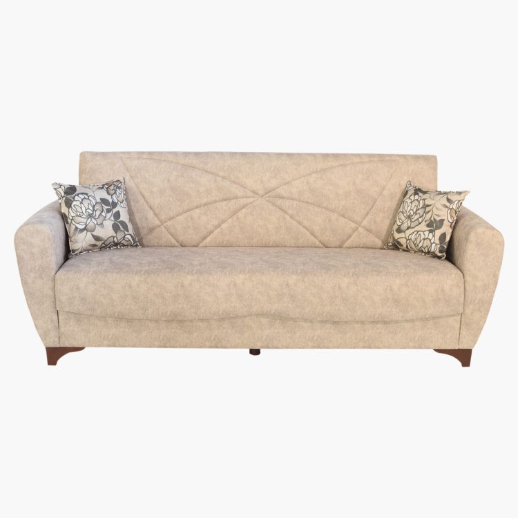 Palmer 3-Seater Sofa Bed with 2-Cushions and Storage