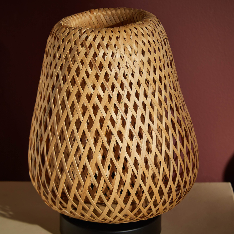 Weaves Bamboo Table Lamp - 20 cms