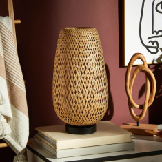Weaves Bamboo Table Lamp - 45 cms