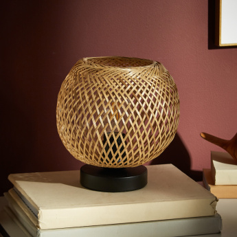 Weaves Bamboo Table Lamp - 23 cms