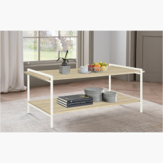 Lucas Rectangular Coffee Table with Undershelf