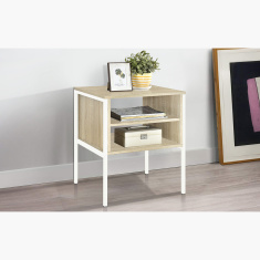 Lucas End Table with Shelves