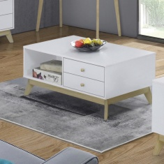 Sweden Coffee Table with 2-Drawers