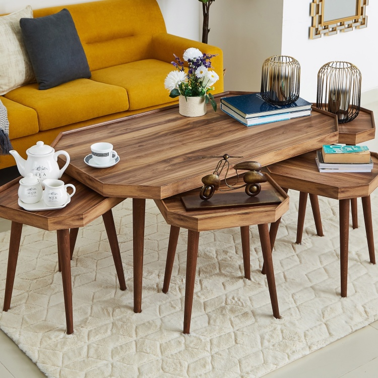 Olanta 5-Piece Coffee and Nest of Tables Set