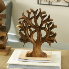Hazel Wooden Tree Sculpture