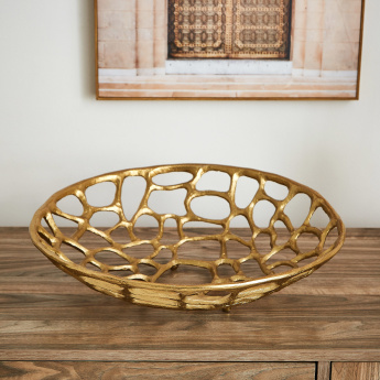 Trivia Metal Mesh Decor Platter