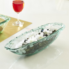 Verdant Recycled Glass Decor Centerpiece