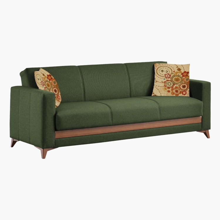 Harmony 3-Seater Sofa Bed with 2 Scatter Cushions and Storage
