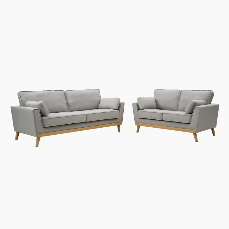Sweden 3-Seater Sofa with 2 Cushions