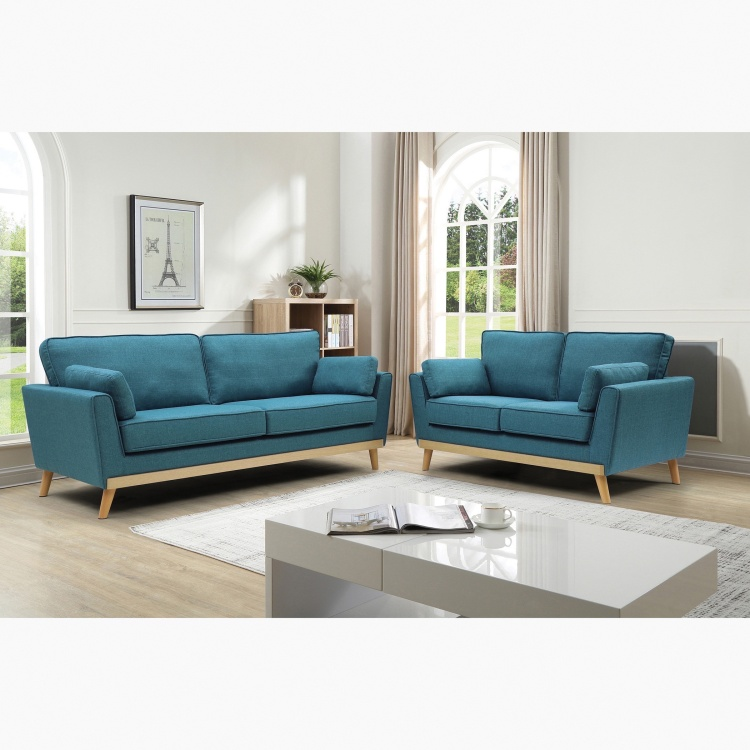 Sweden 2-Seater Fabric Sofa with 2 Cushions