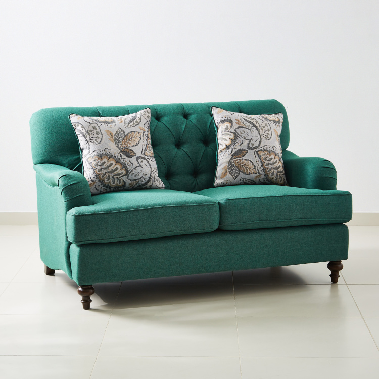 Dorothy 2-Seater Fabric Sofa with 2 Cushions