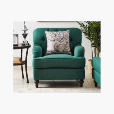 Dorothy 1-Seater Fabric Sofa with Cushion