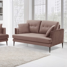 Topaz 2-Seater Velvet Sofa with 2 Scatter Cushions