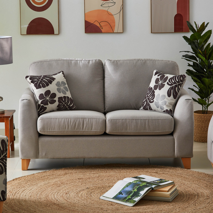 Debora 2-Seater Fabric Sofa with 2 Cushions