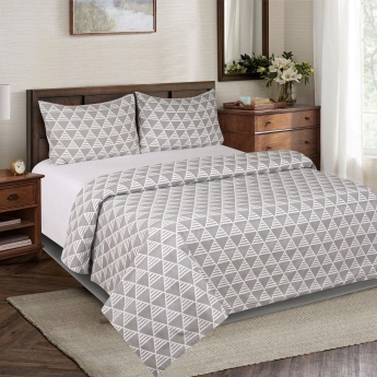 Artdeco Argos Cotton 3-Piece King Duvet Quilt Cover Set - 220x220 cms