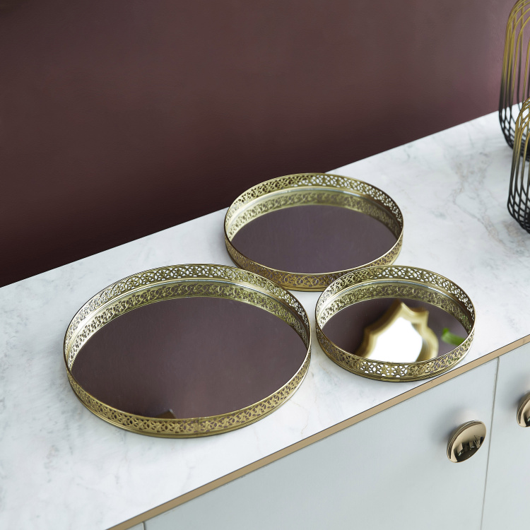 Quartz Nesting Mirror Tray - Set of 3