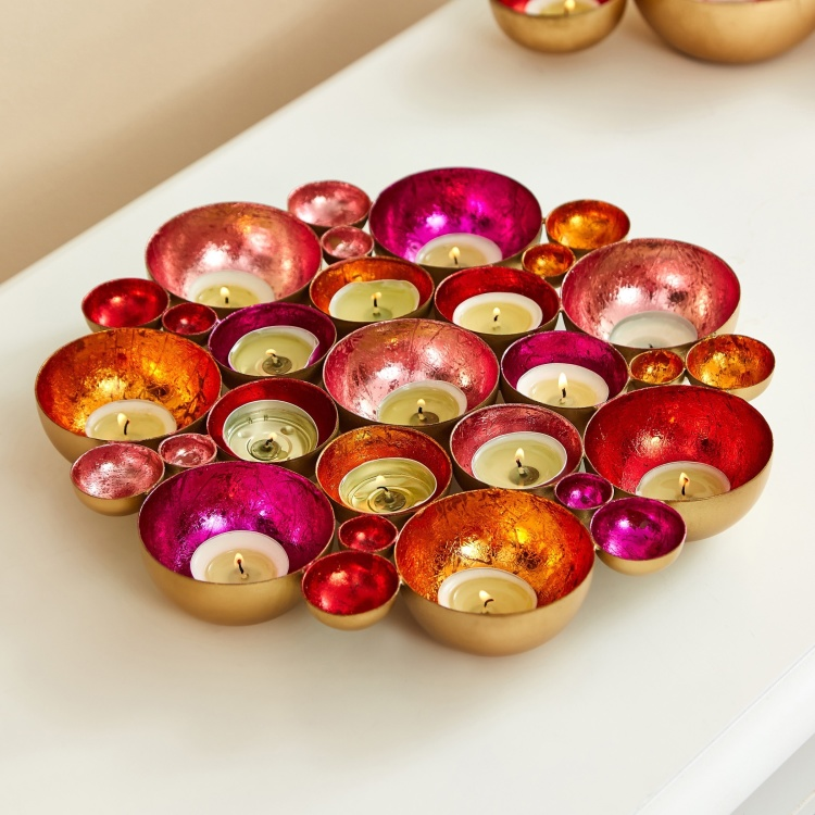 Zoha Metal Flower Table and Wall Tealight Holder