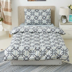 Hampton Haevey BIAB 3-Piece Printed Single Comforter Set - 135x220 cms