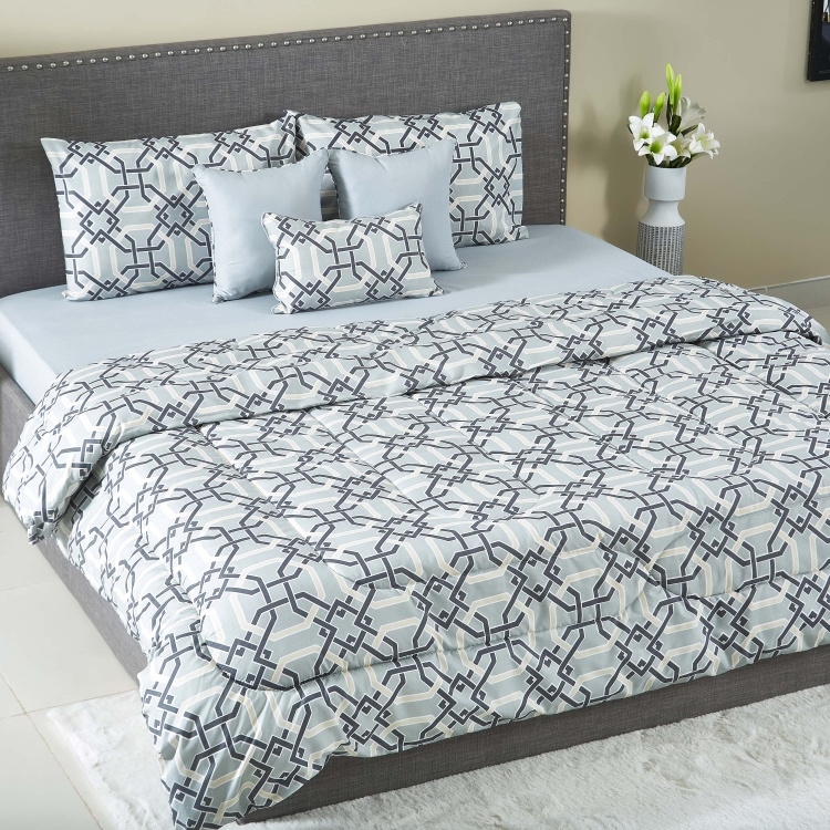 Hampton Haevey BIAB 7-Piece Printed Queen Comforter Set - 200x240 cms