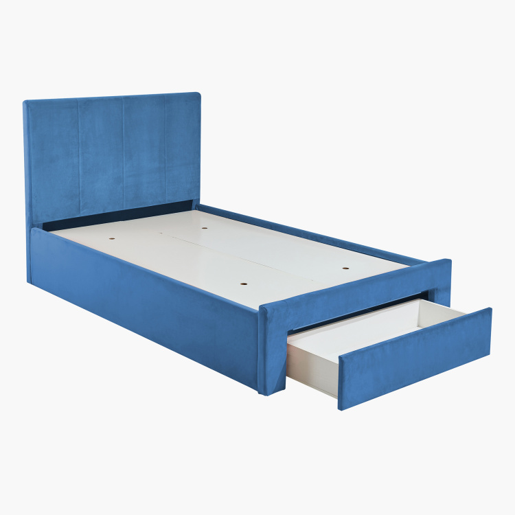 Halmstad Upholstered Twin Bed with Drawer - 120x200 cms
