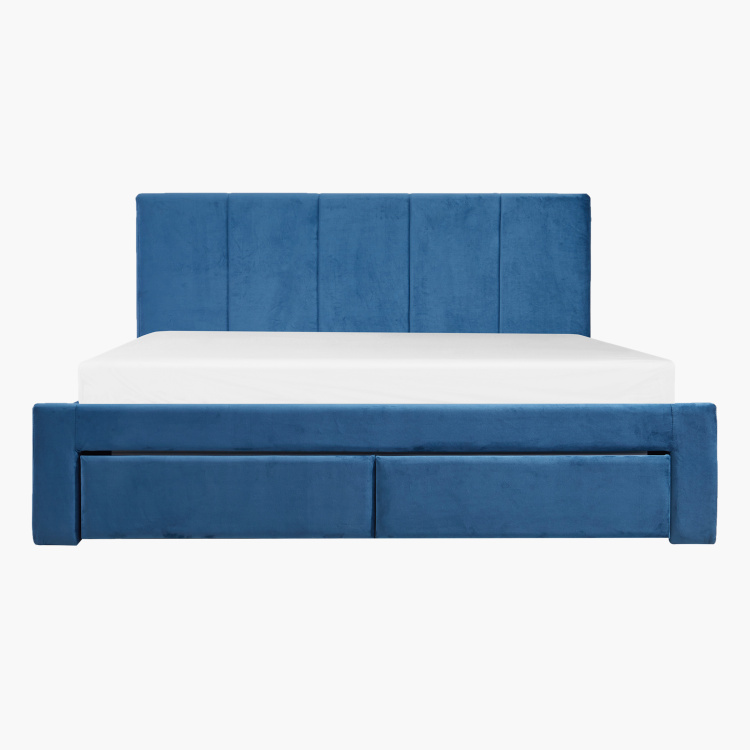 Halmstad King Upholstered Bed with 2 Drawers - 180x200 cms