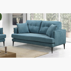 Topaz 2-Seater Velvet Sofa with 2 Cushions