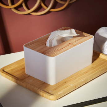 HBSO Wooden Finish Tissue Box