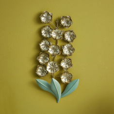 Shiraz Metal Bloom Flower Wall Decor