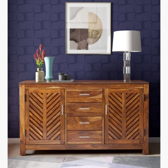 Ritzy 2-Door Sideboard with 4 Drawers