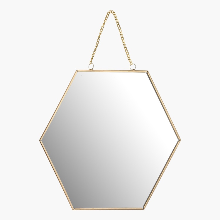 Amore Honeycomb Shaped Mirror - 25x0.1x21 cms
