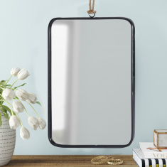 Amore Rectangular Metal Mirror with Hanger - 25x1x18 cms