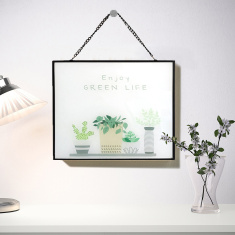 Amore Decorative Slogan Print Glass Frame