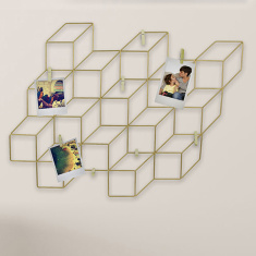 Amore Wire Montage Photo Frame with 8 Clips - 54x40 cms